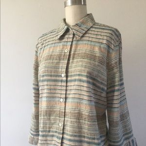 Alfred Dunner 3/4 Sleeves Shirt Top Size 14